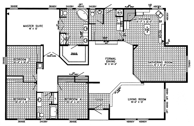 triple wide mobile home floor plans 76287 2