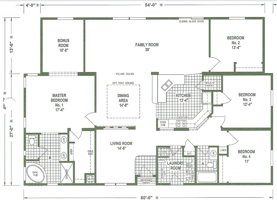 Triple Wide Mobile Homes Floor Plans Mobile Home Floor Plans Triple Wide Mobile Homes Ideas