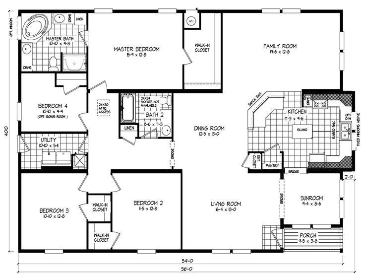 triple wide mobile home floor plans russell clayton homes 60696 2
