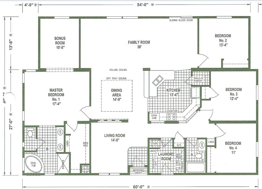 Triple Wide Modular Home Floor Plans Mobile Home Floor Plans Triple Wide Mobile Homes Ideas