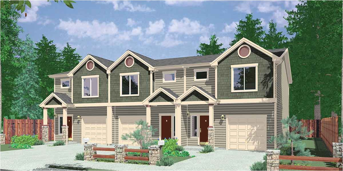 triplex house plan with 3 bedroom units 38027lb