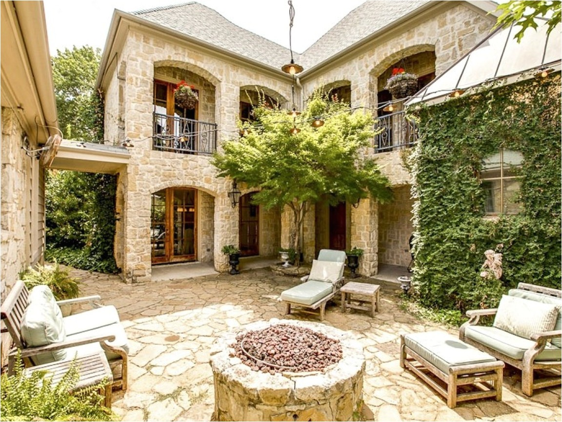 outdoor tuscan style house plans with courtyard