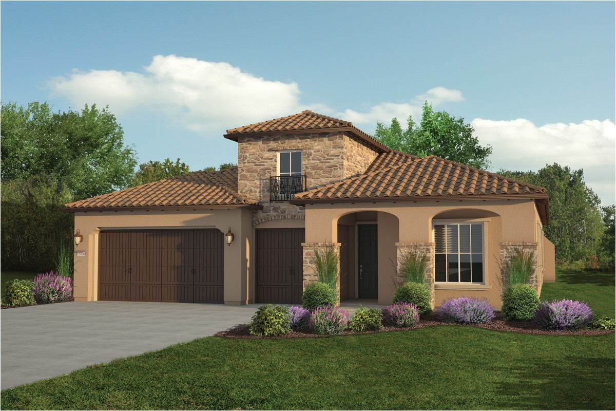single story tuscan style homes plan