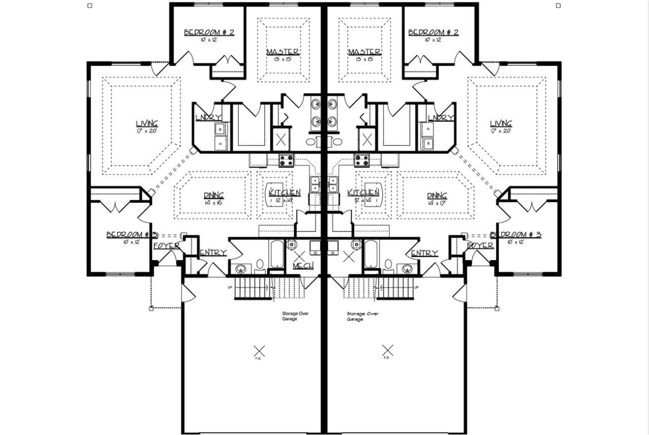 twin home floor plans