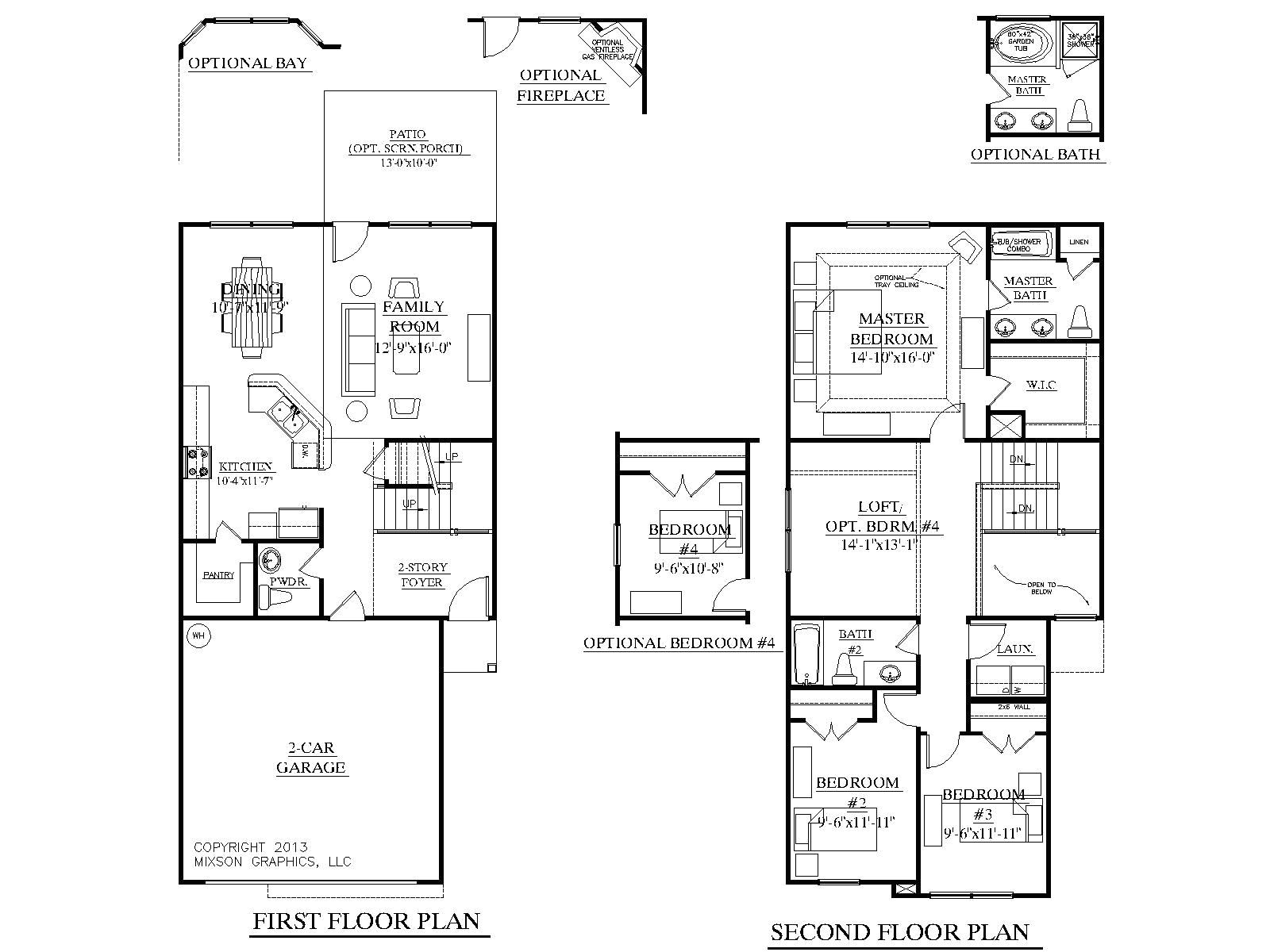 2 story house plans with master on first floor