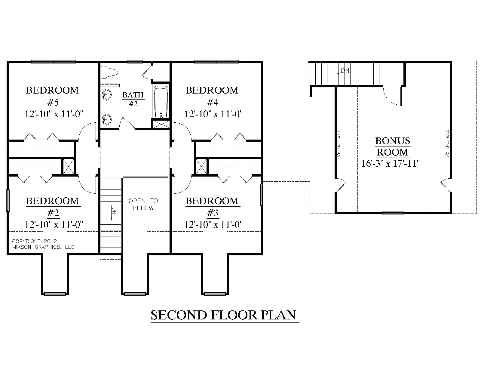 2 story house plan with first floor master