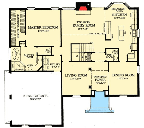 colonial home with first floor master 32547wp