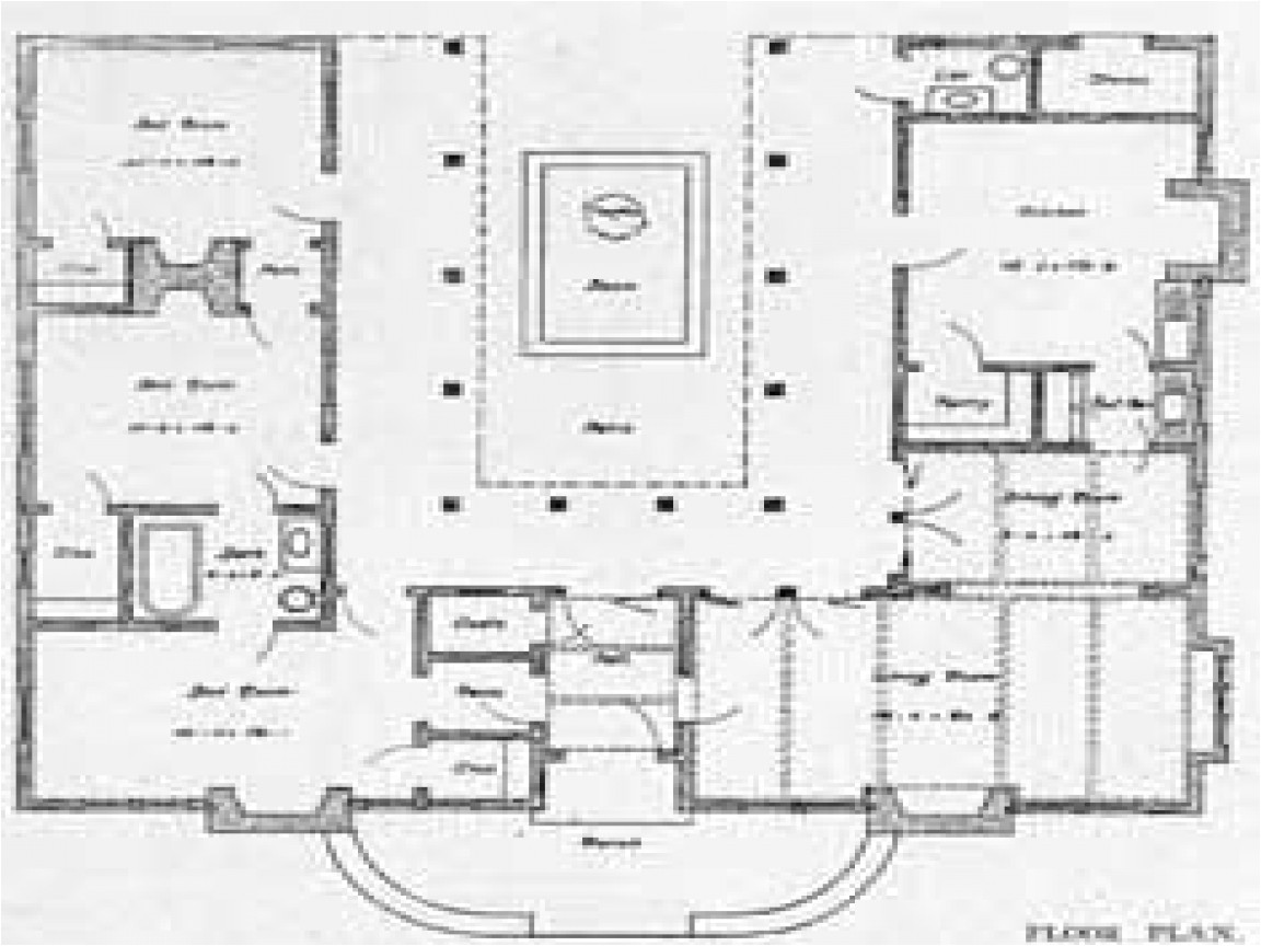 4dd6b39caccd4045 u shaped one story house u shaped house plan with courtyard