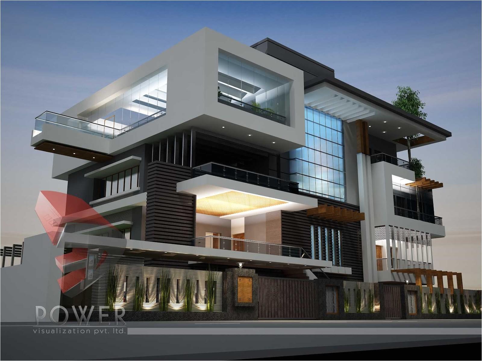 3d architecture animationultra modern 18