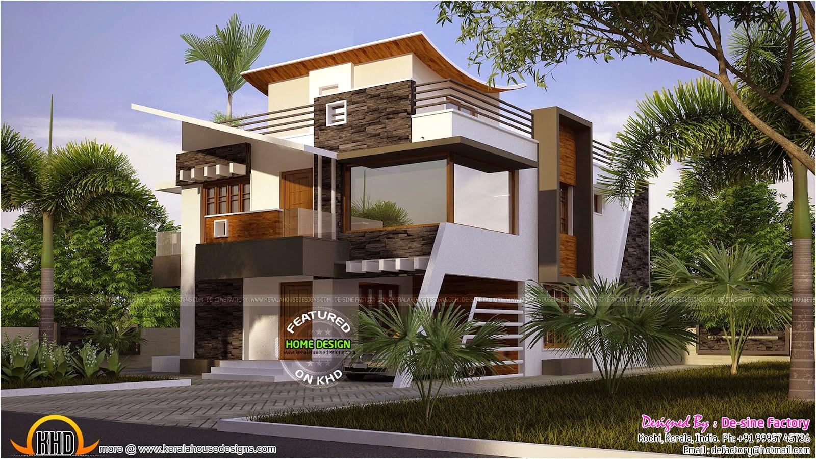 Ultra Modern Home Designs Plans Floor Plan Of Ultra Modern House Kerala Home Design and