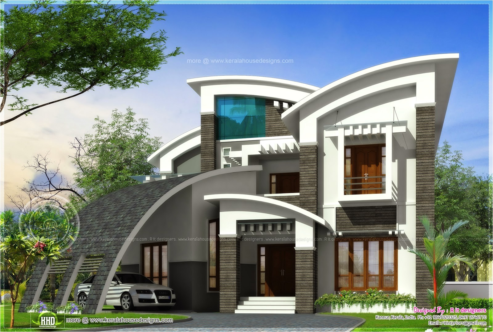 Ultra Modern Home Designs Plans Super Luxury Ultra Modern House Design Kerala Home
