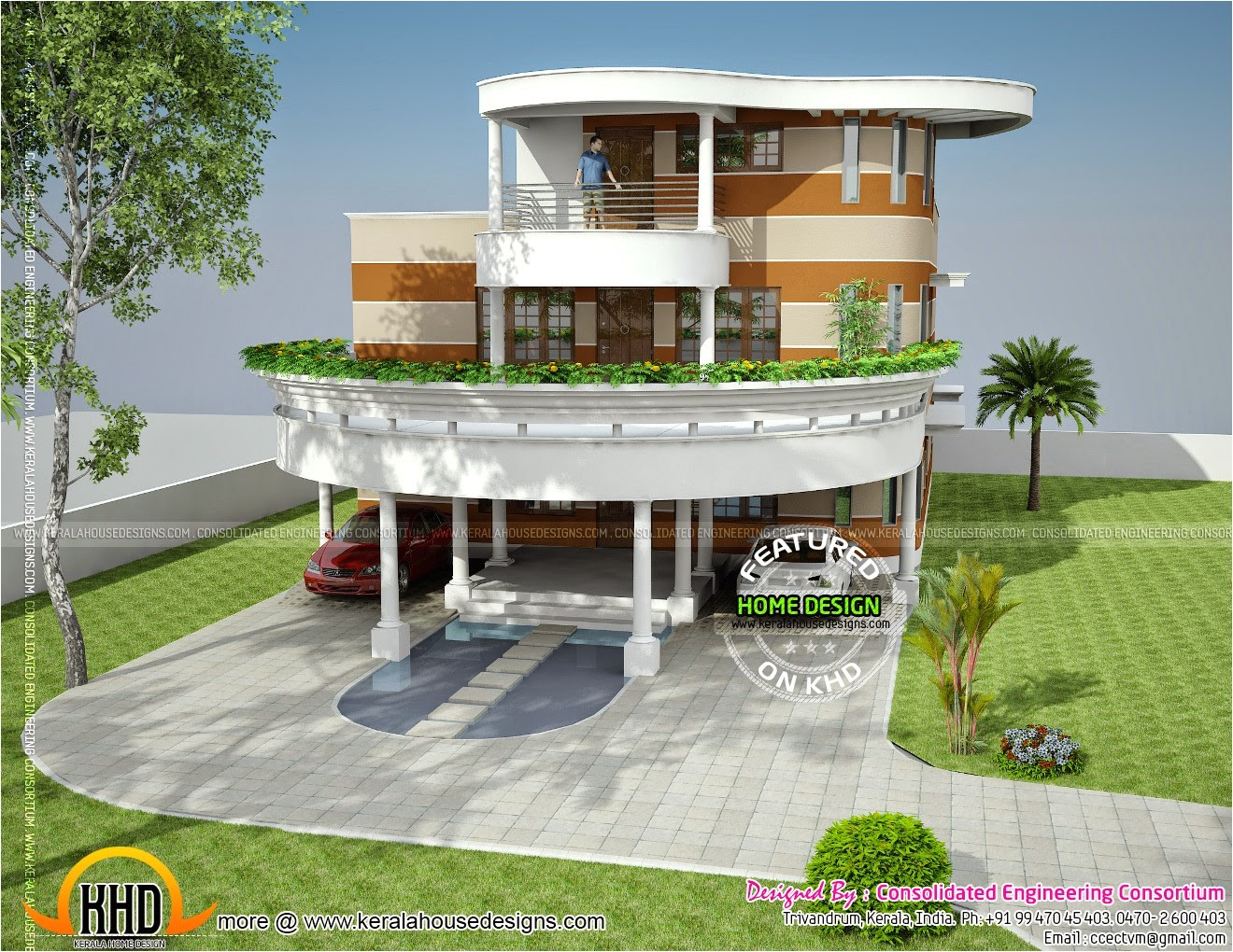 unique house plan in kerala