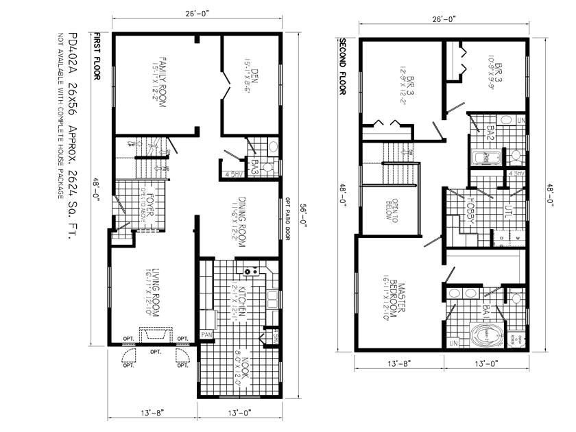 2 floor minimalist house plan idea