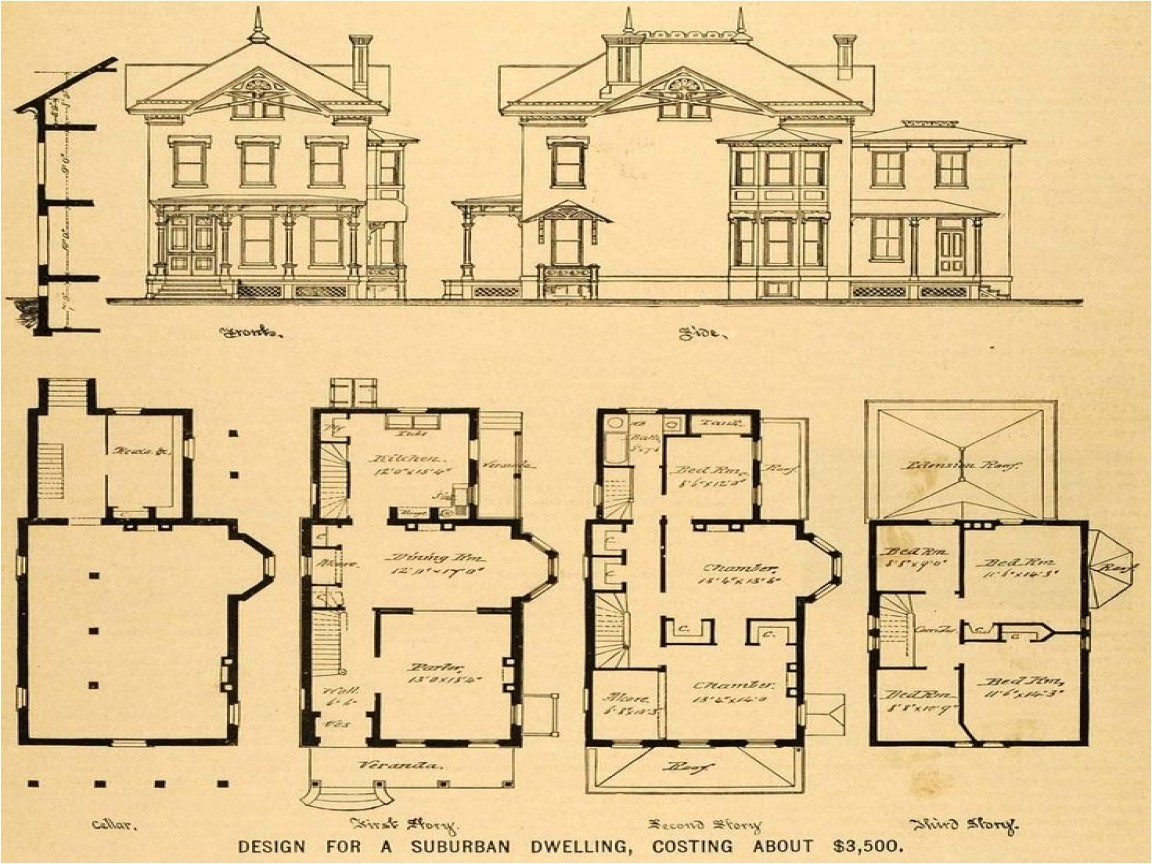 7583a4ba8939f948 old queen anne house plans vintage victorian house plans