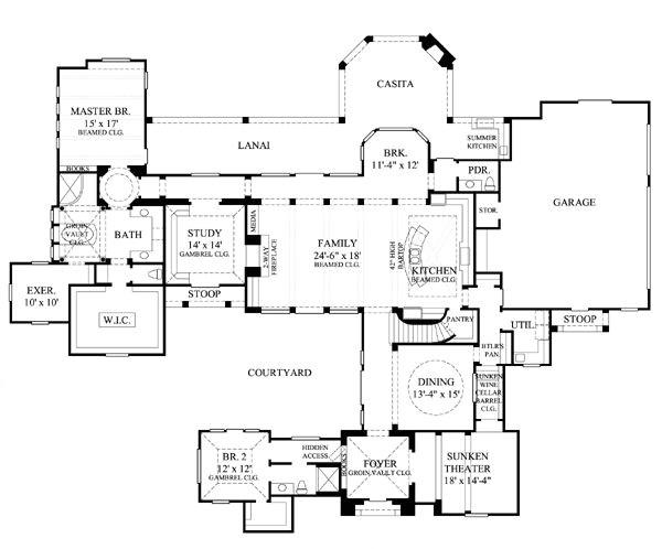 courtyard floor plans