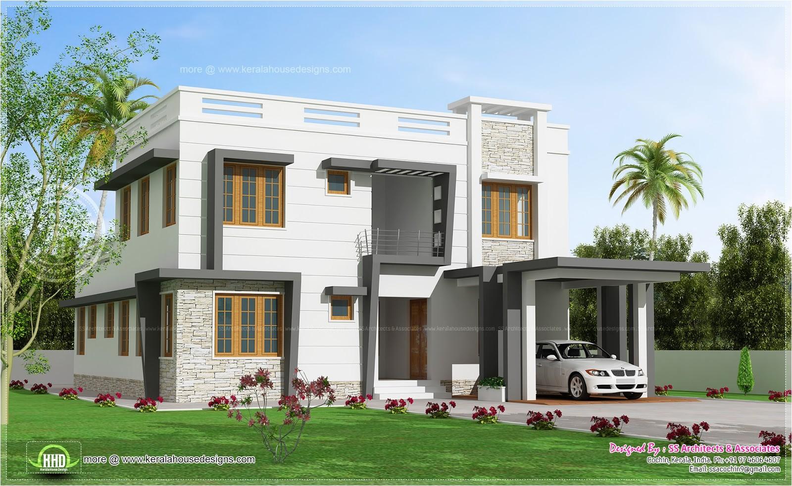 2450 sqfeet modern villa design