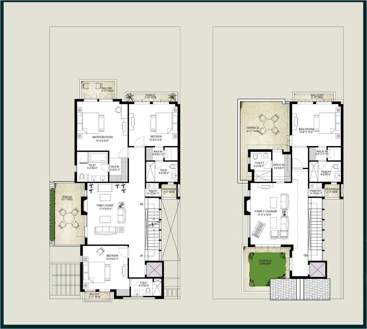 villa house plans floor plans