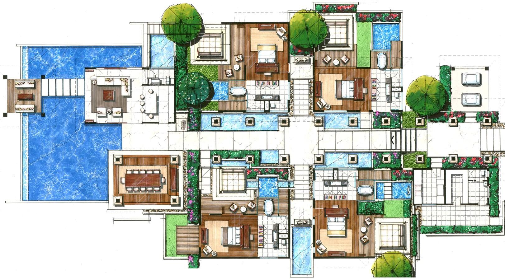 villas floor plans resorts joy studio design