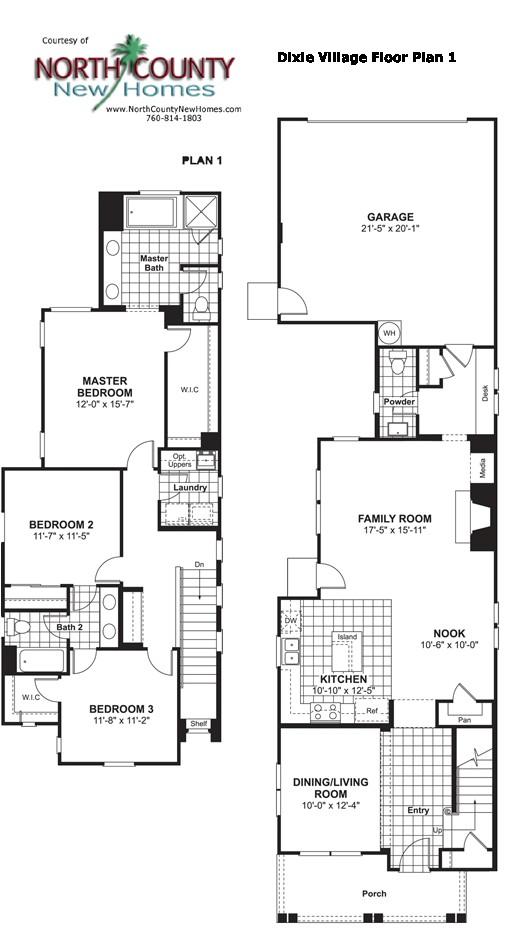 dixie village floor plan 1