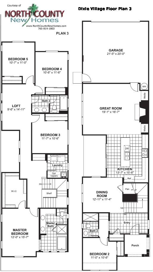 dixie village floor plan 3 new homes oceanside
