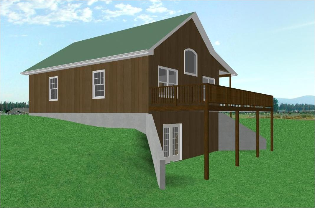 log cabin house plans with walkout basement