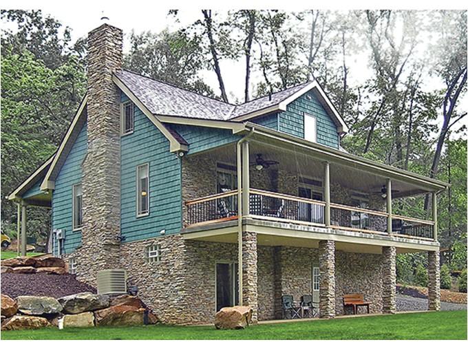 lake cabin plans with walkout basement