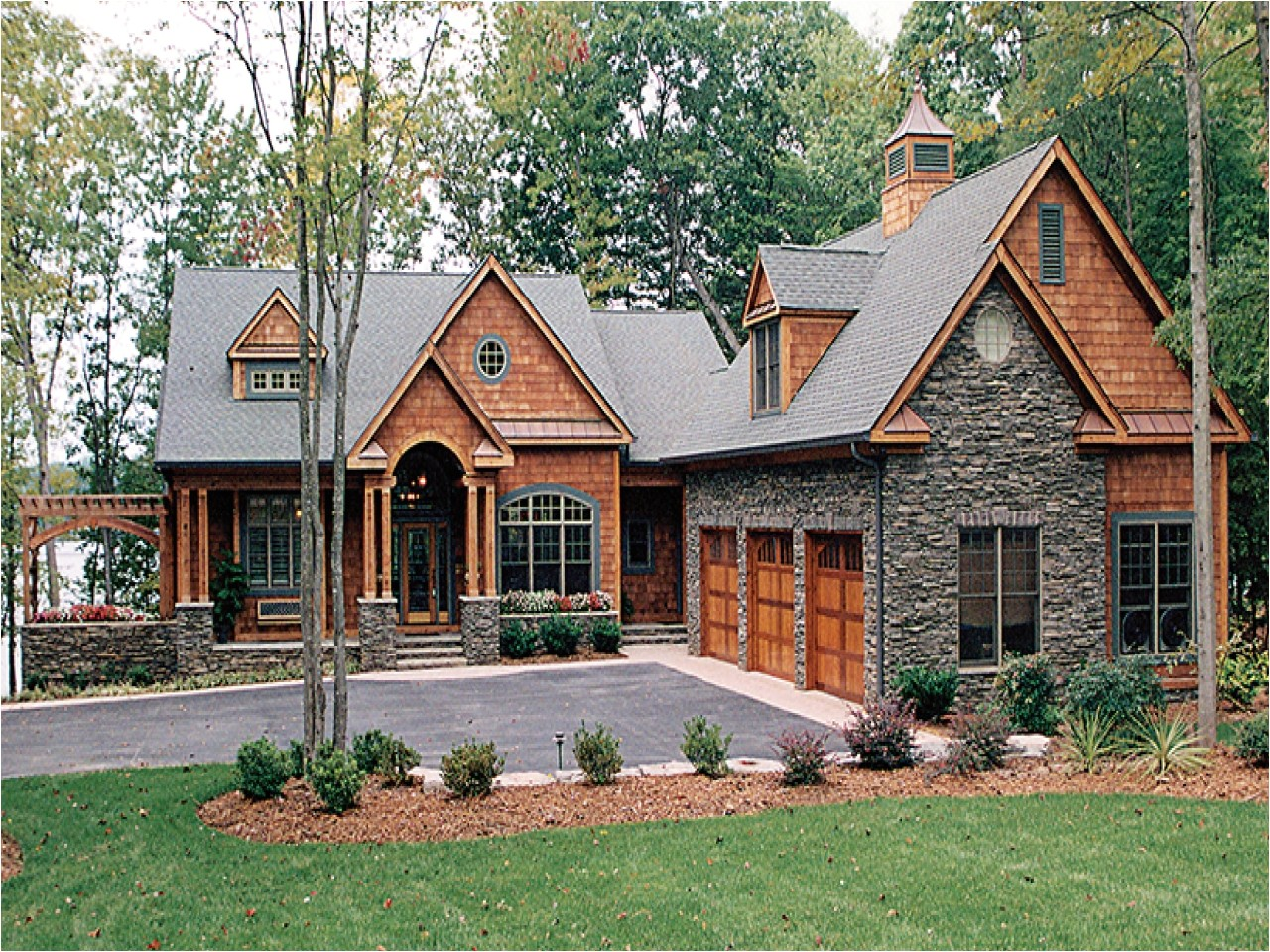 Walkout Basement House Plans On Lake Award Winning Bedroom Designs Lake House Plans with