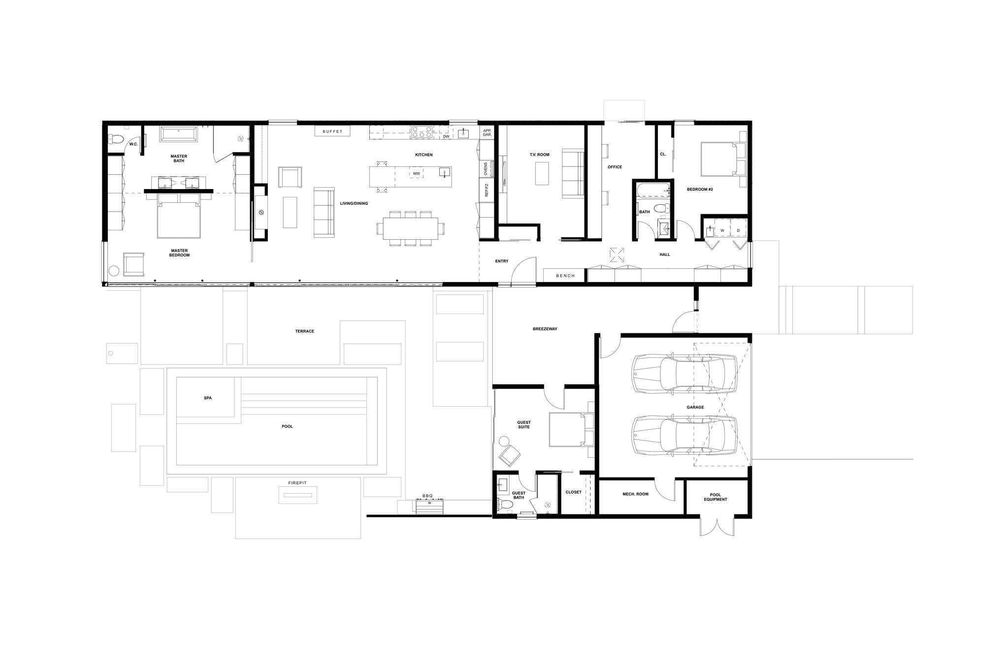 58637906e58ece88210000f9 glass wall house klopf architecture floor plan