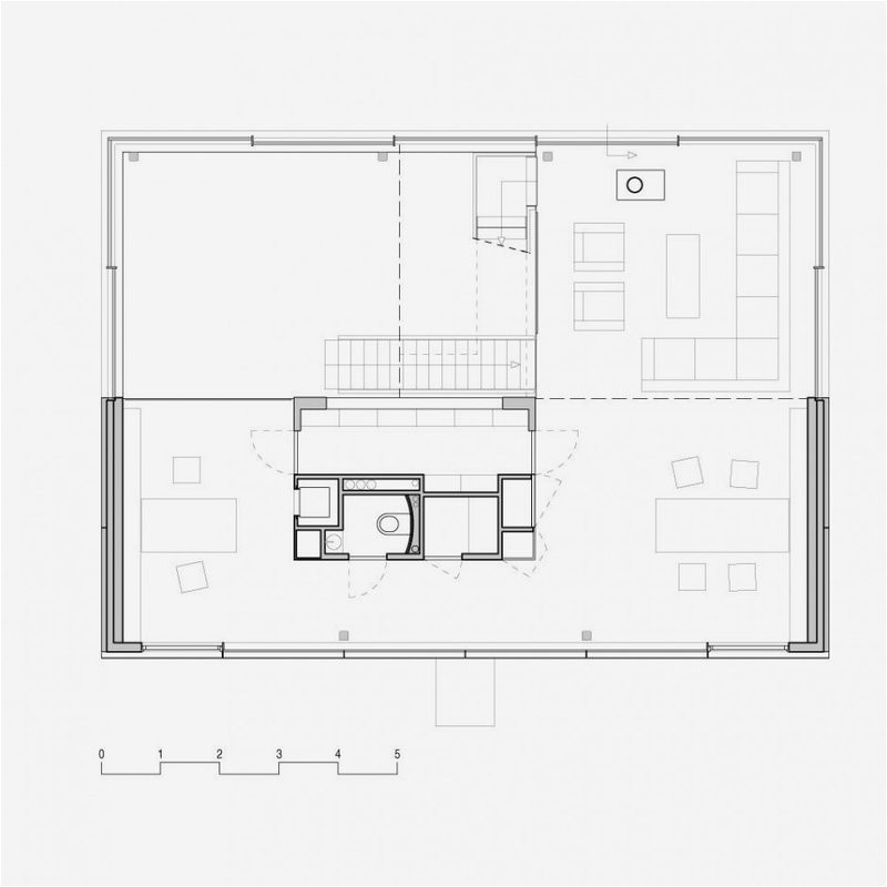 Wall Homes Floor Plan Modern House with Big Open Views Trough Glass Wall