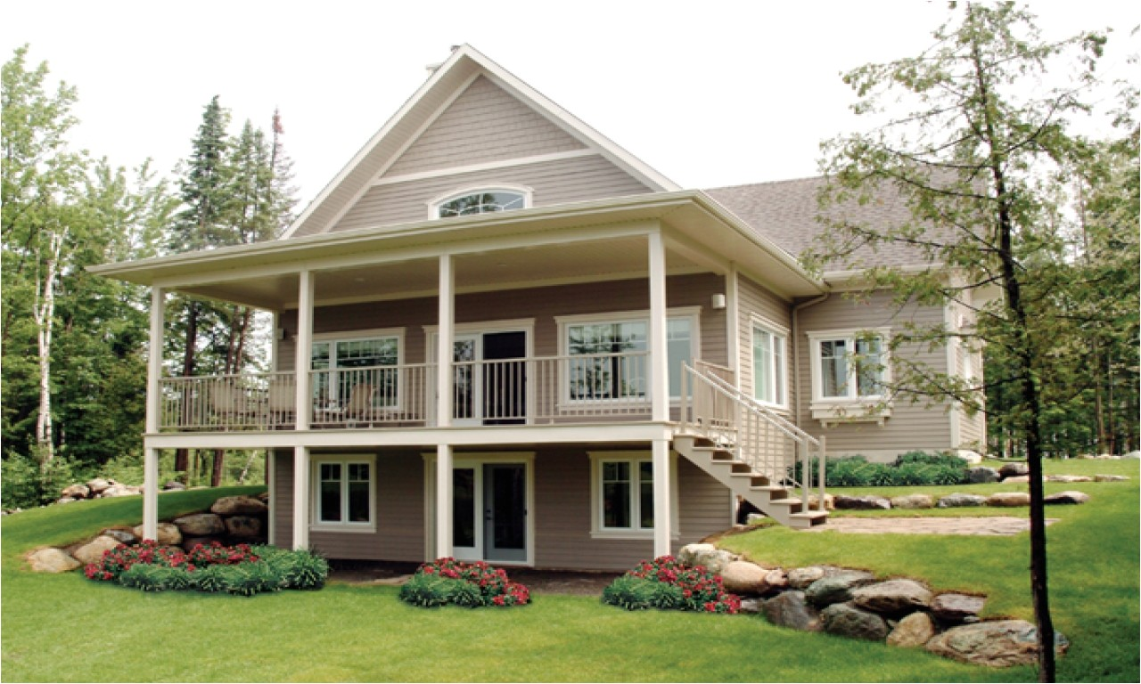 90436a1efe4f36d1 waterfront house plans with walkout basement modern waterfront house plans