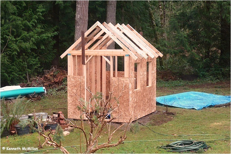 how to build a pump house shed