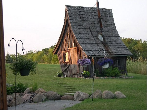 rustic way whimsical house