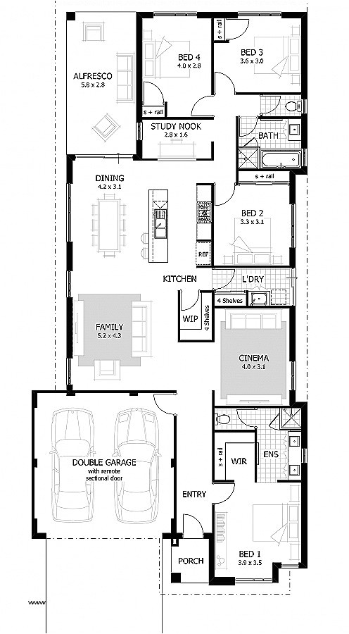 wide frontage house plans unique 12 metre wide home designs