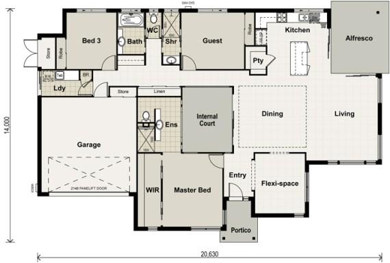 wide block house plans