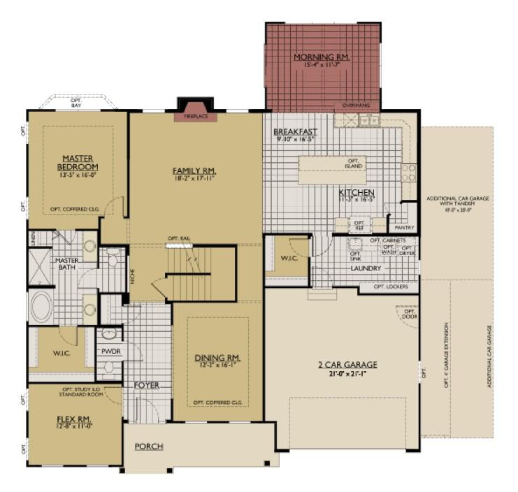 interactive floorplan william ryan homes jensen model