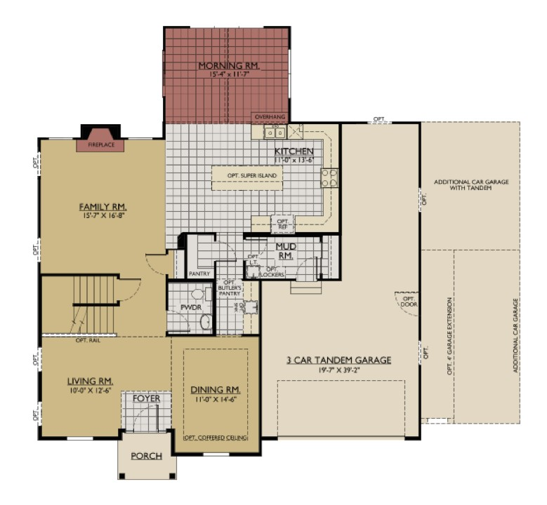 William Ryan Homes Floor Plans Interactive Floorplan William Ryan Homes Jericho Model