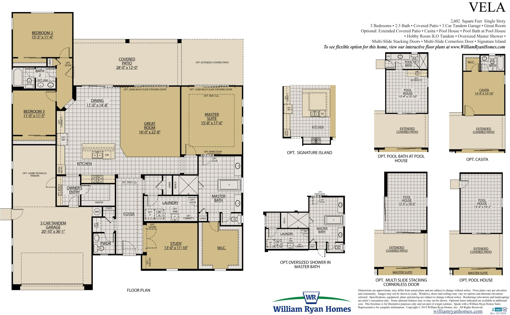 William Ryan Homes Floor Plans William Ryan Homes Vela