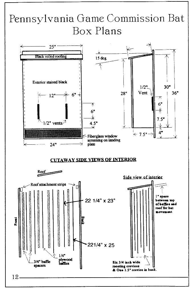 wood bat house plans
