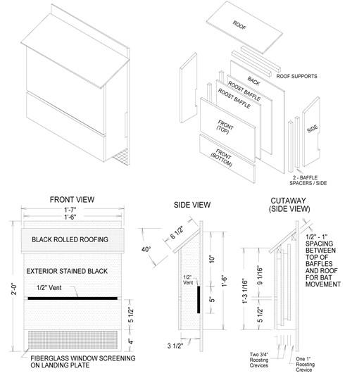 Wooden Bat House Plans Wood Bat House Plans