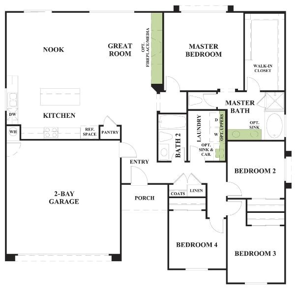 floorplan highlands at westbury sagecrest plan 1 1005 4689 cfm