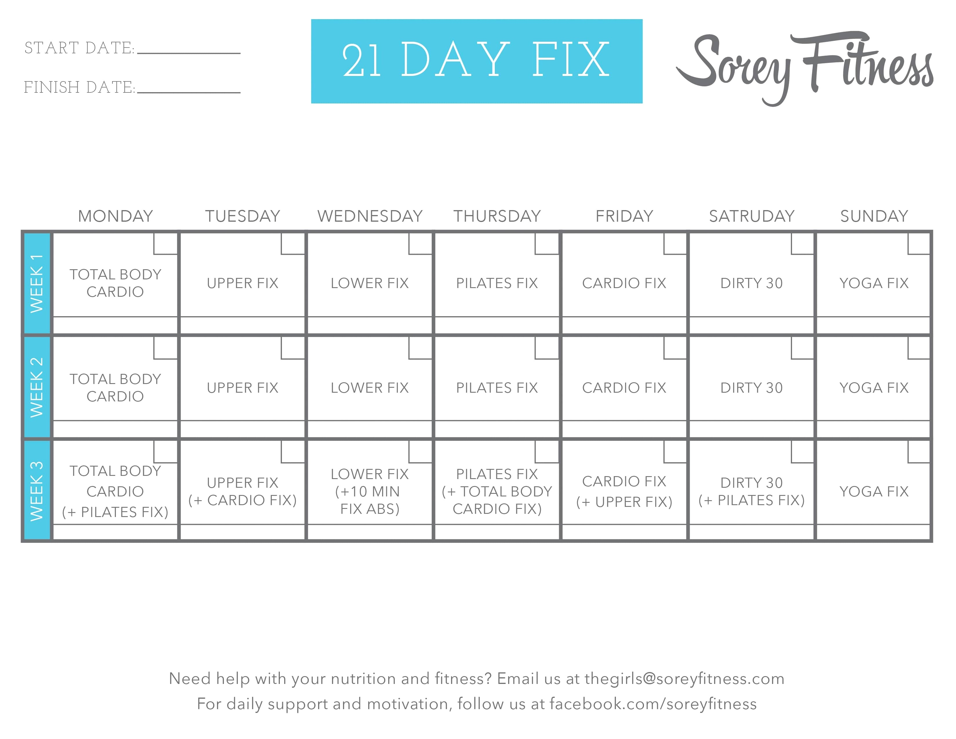 Your Repair Home Plan Reviews 50 Awesome Printable 21 Day Fix Meal
