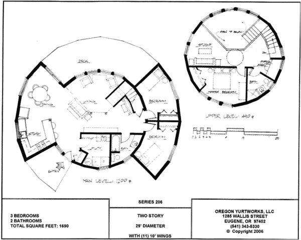 Yurt Home Plans Yurt Home Plans Two Story Yurt Floorplan House Floor