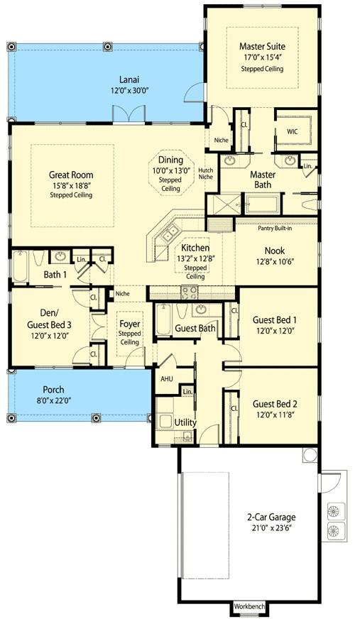 3 or 4 bedroom net zero ready home plan 33113zr