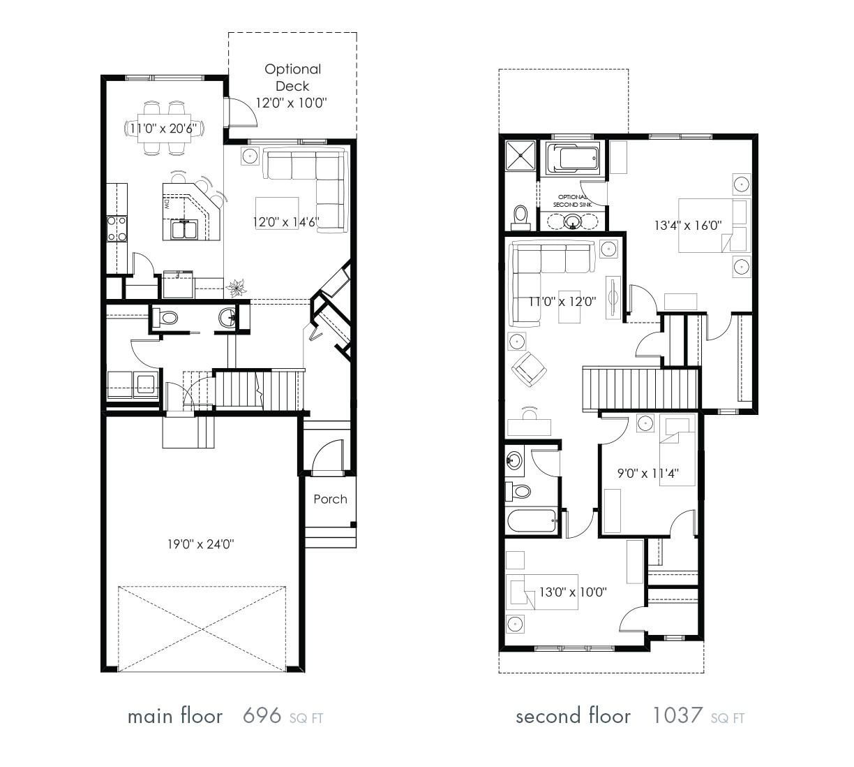 floor plans zero lot line