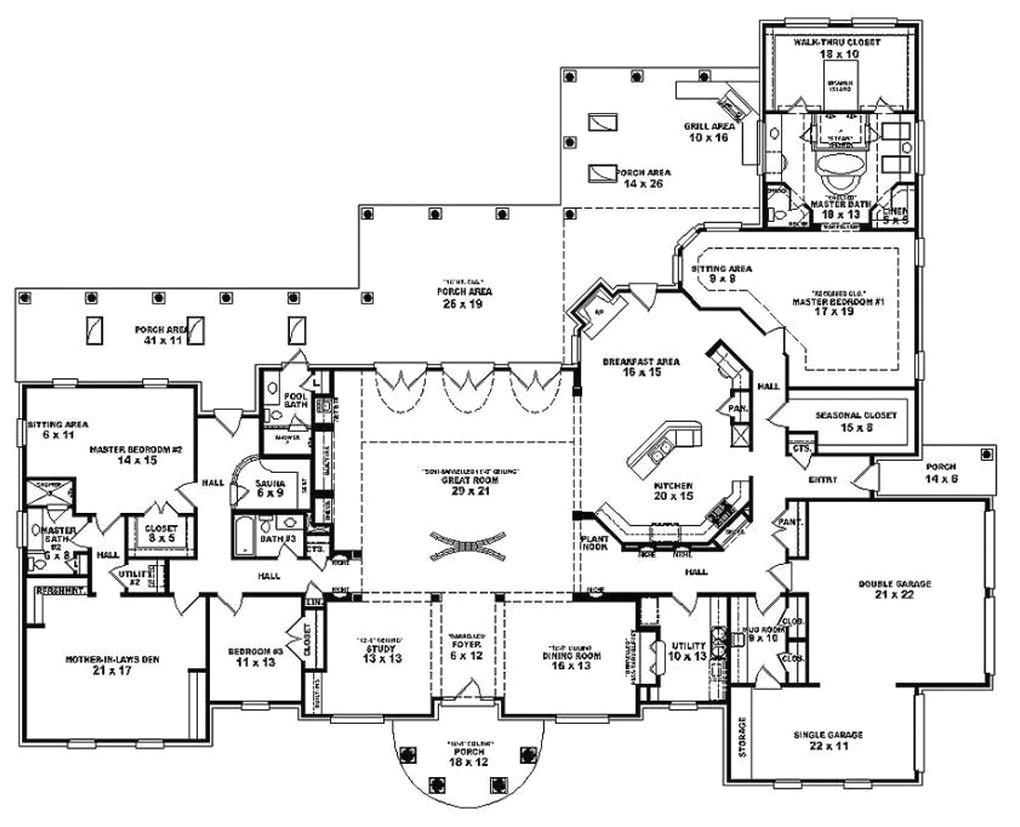 the best of house plans 5 bedroom single story spanish home on country