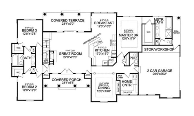 7 decorative single story house plans with bonus room