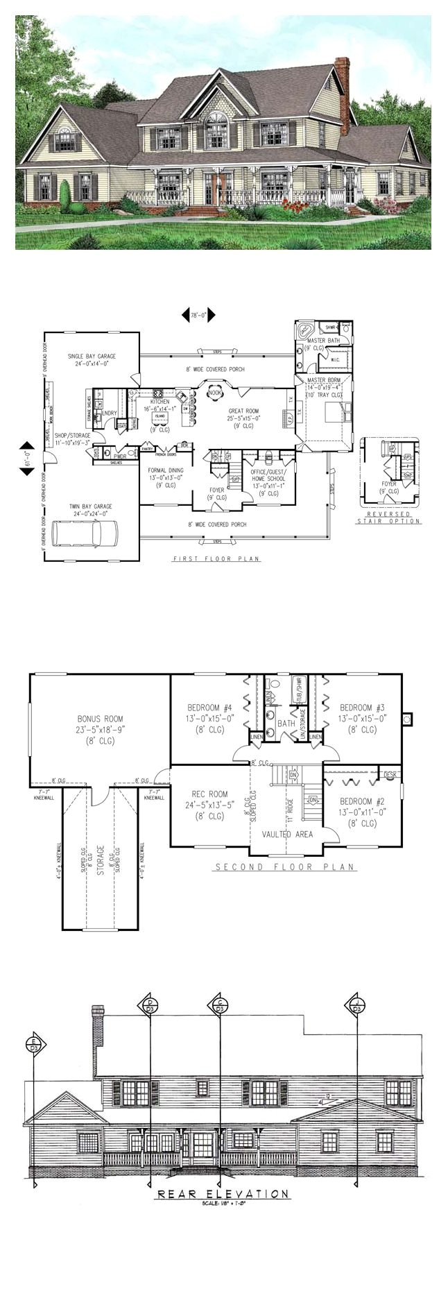 single story house plans with bonus room