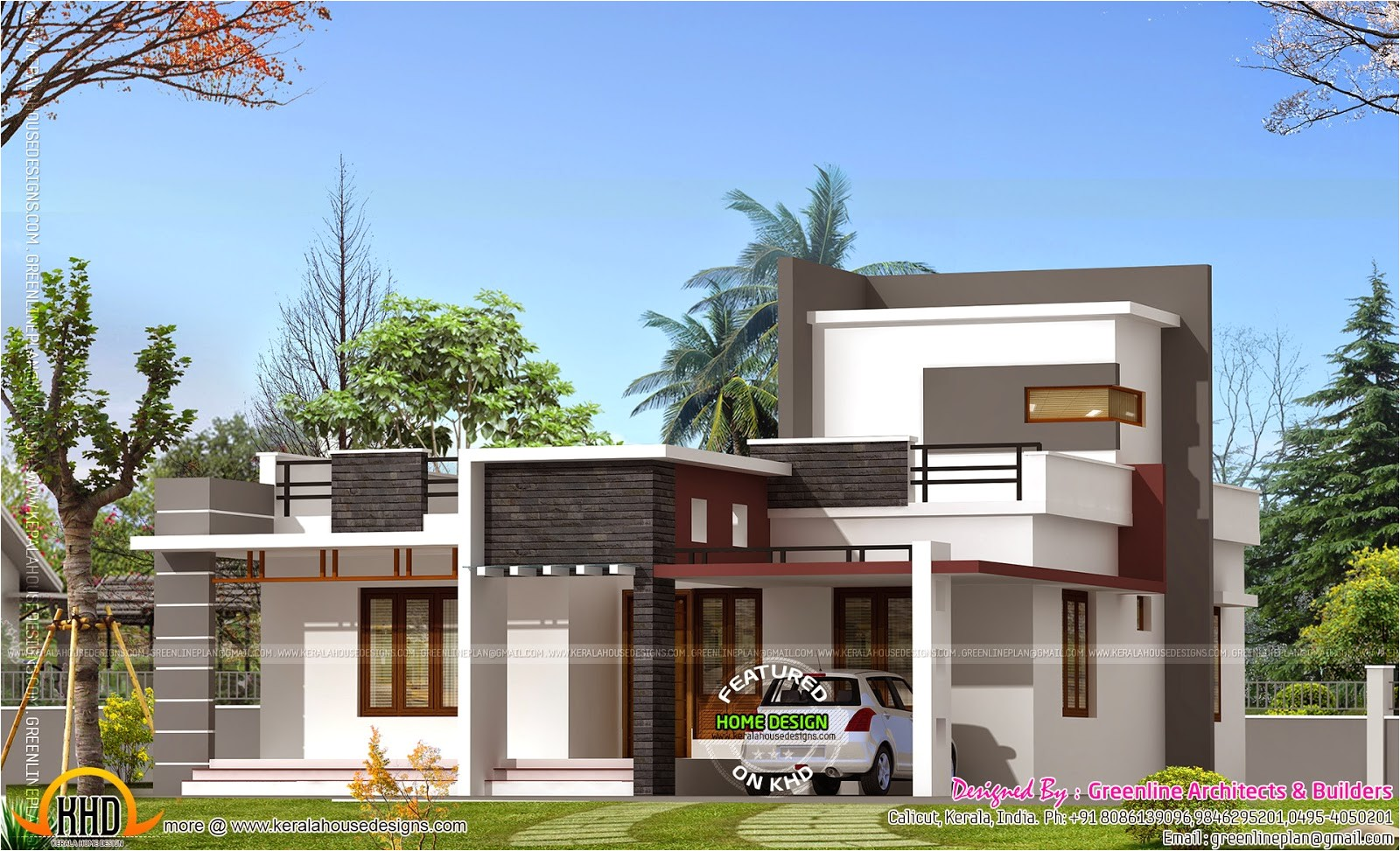 1000 Sq Ft House Plans 3 Bedroom Indian Style 1000 Square Feet House Kerala Home Design and Floor Plans