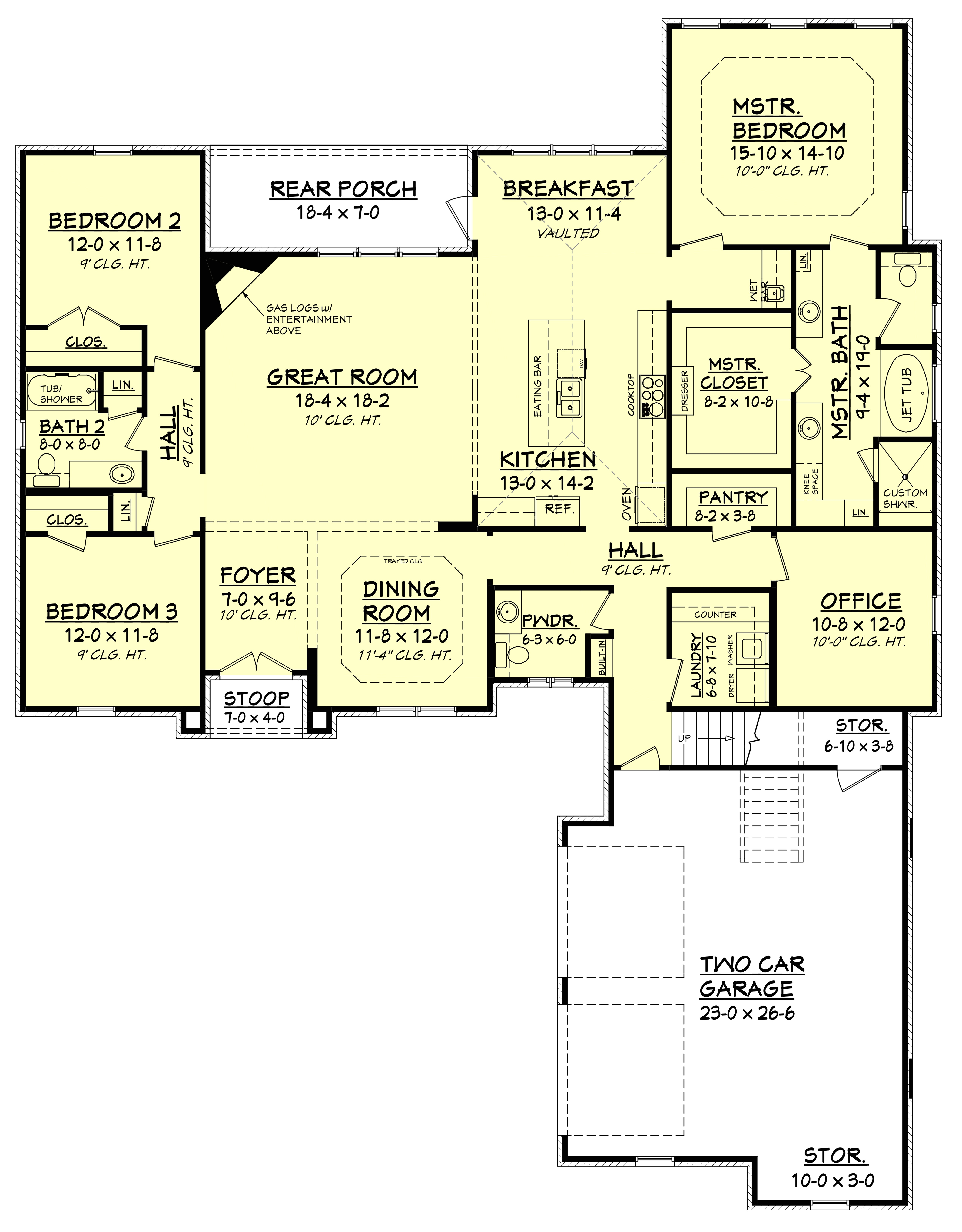 1150 Sq Ft House Plans Traditional House Plan 142 1150 3 Bedrm 2405 Sq Ft Home