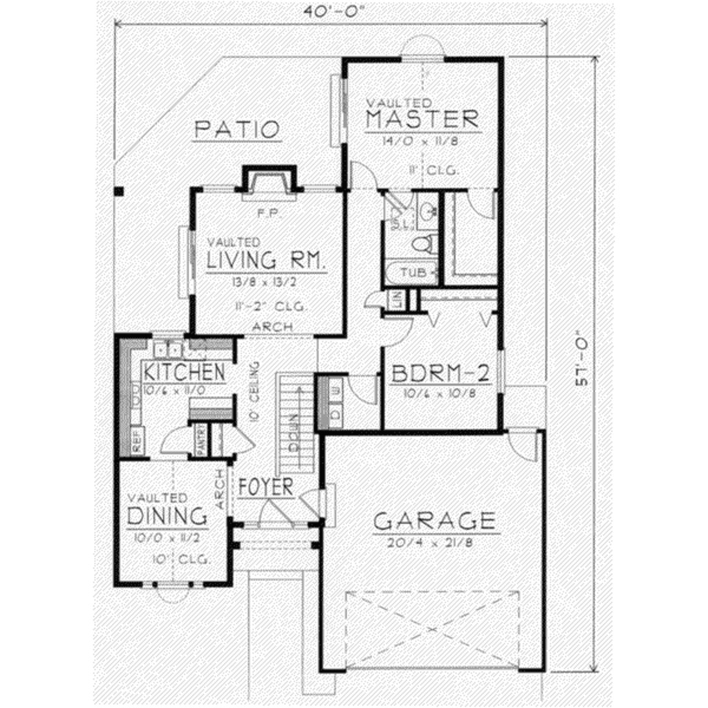 1150 square feet 2 bedrooms 1 bathroom traditional house plans 2 garage 14136